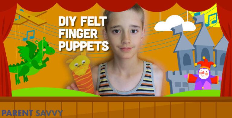 DIY Felt Finger Puppets